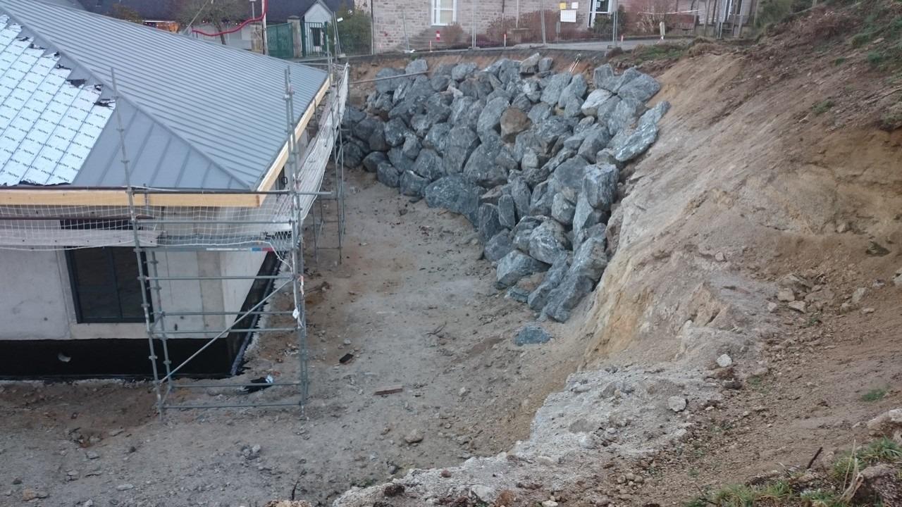gentioux rocher terrassement en creuse guéret aubusson bonnat - Terrassement / VRD
