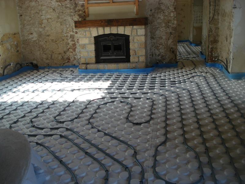 installation plancher chauffant en creuse guéret aubusson bonnat - Galerie Chauffage / Plomberie