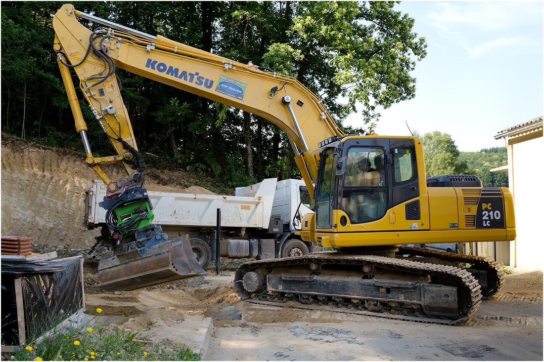 pc210 b matériel travaux publics en creuse guéret bonnat aubusson - Galerie Terrassement / VRD